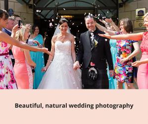 bride groom confetti weddings photography Woodlands Hotel Dundee