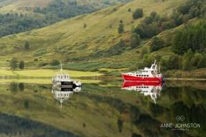 Laggan Locks Loch Lochy boats