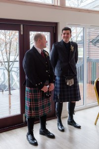 Groom and best man at Forbes of Kingennie