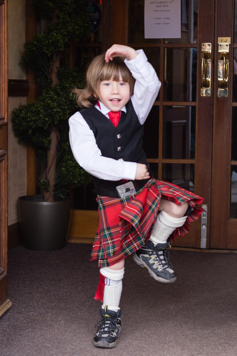 Wedding kilt dancing Glen Clova Hotel Angus