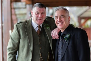 Groom and best man at Glen Clova Hotel