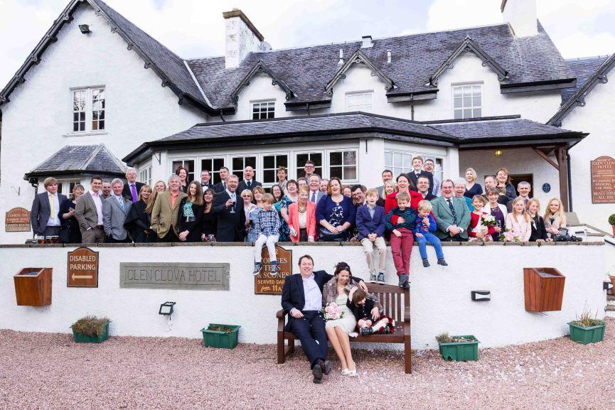 bride groom weddings glen clova hotel Angus