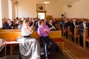 Wedding guests Clova Kirk Angus