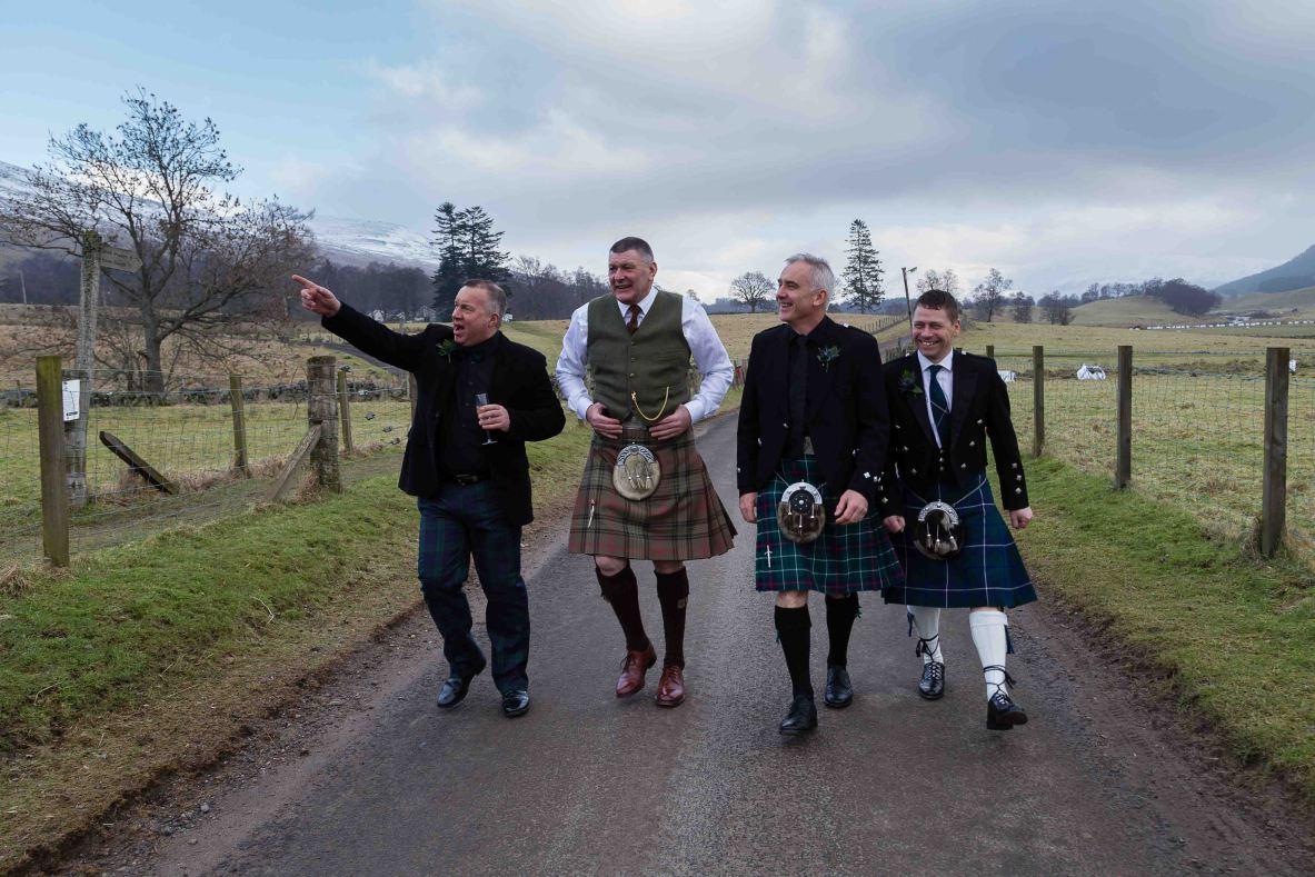 weddings photography groom best man Glen Clova