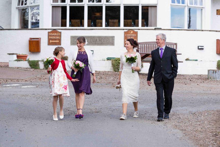 Weddings photography bride Glen Clova Hotel Angus