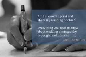 Wedding photography copyright
