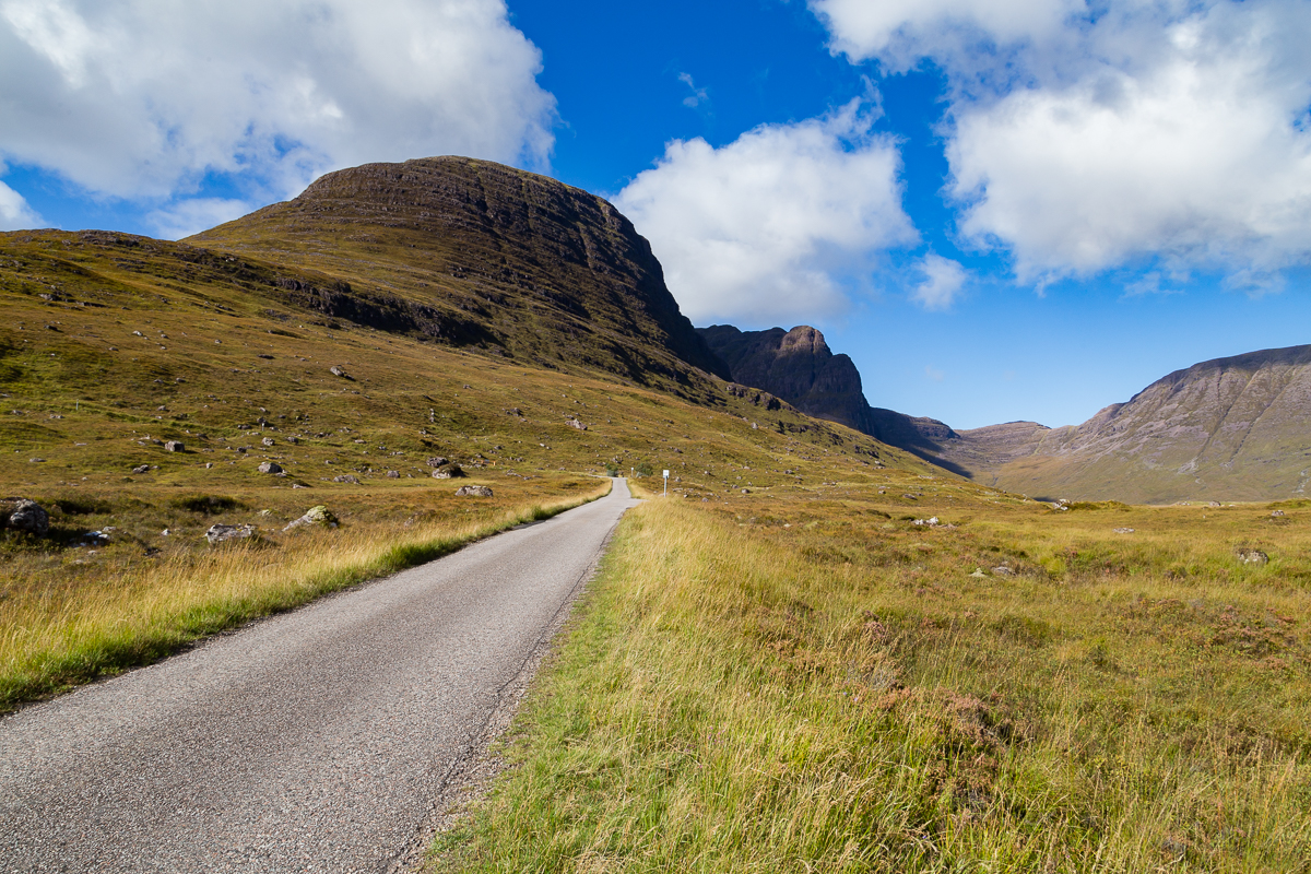 The road leading up to the Bealach na Ba