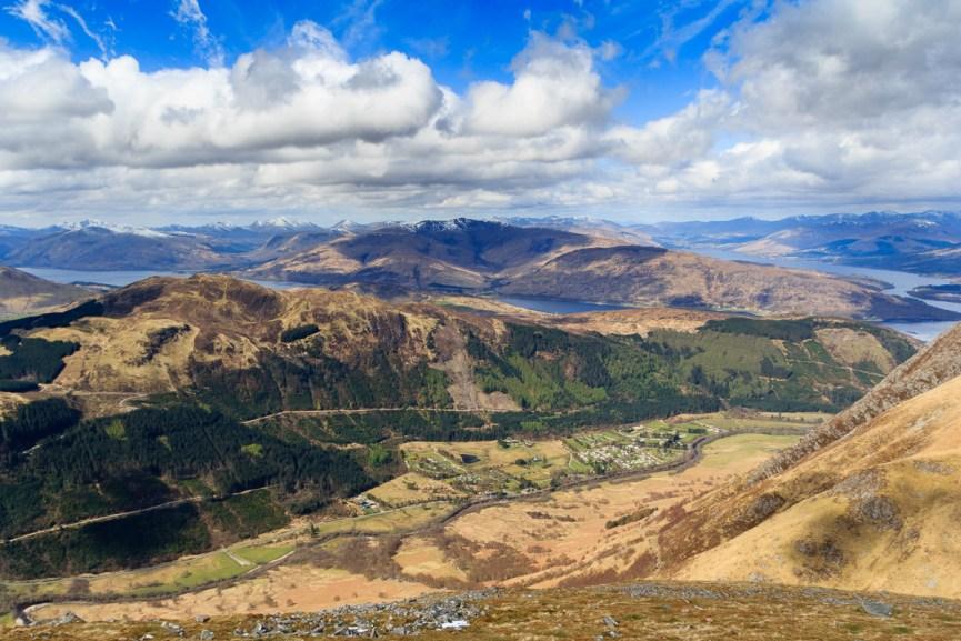 A view of Glen Nevis from Ben Nevis