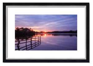 Fine art framed print of Balgavies Sunset