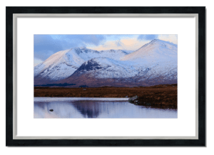 Fine art framed print of The Black Mount