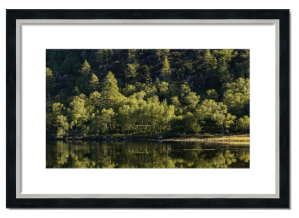 Fine art framed print of Loch Clair reflections