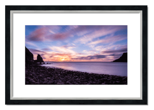 Fine art framed print of Talisker Bay Sunset, Skye