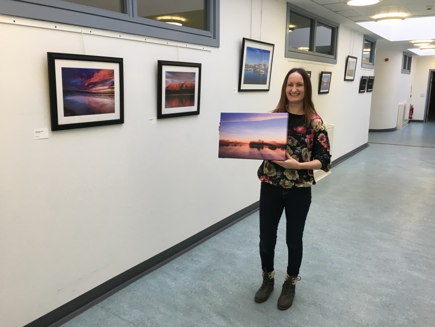 Forfar photographer Anne Johnston is exhibiting her landscape photographer at Whitehills Art Gallery