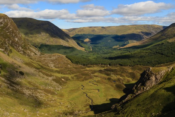 Corrie Fee and the Glen Doll Forest, Glen Clova