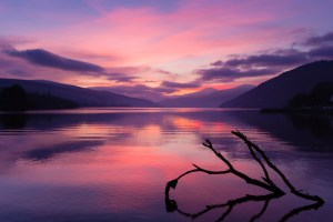 Sunset on Loch Tay at Kenmore
