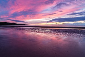 Sunrise at Lunan Bay,