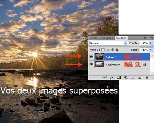 Fusionner deux images dans Photoshop