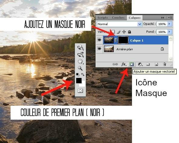Masque - Fusionner deux images dans Photoshop