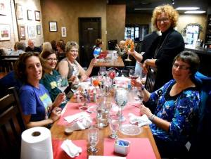 Painting wine glasses as part of the Moorhead Community Ed program at Uncorked.  Cheers to Art!