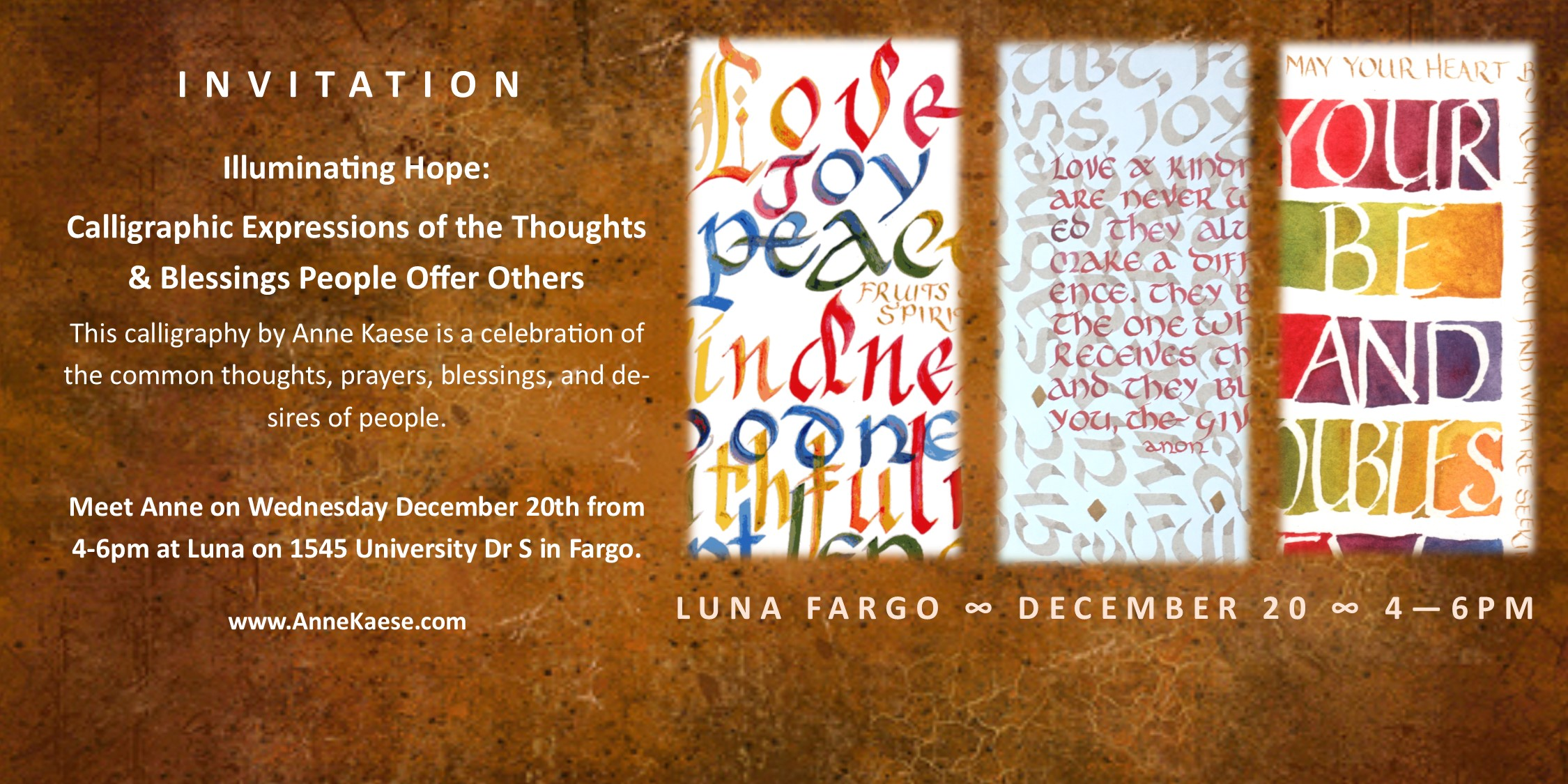 Exhibits – Anne Kaese Calligraphy