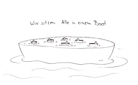 Wirsitzenalleineinem-Boot
