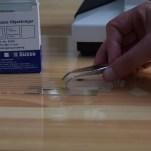 Preparation of microscope slide