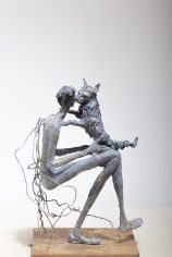 AnneKunst_Sculptur_MannMitHund2017