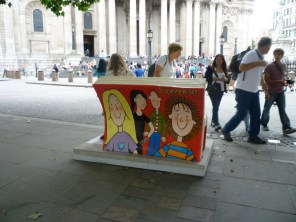 This one is outside St Paul's and I don't know what it is. I guess there will always be people sitting on this one.