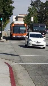 Los Angeles Metro bus arriving