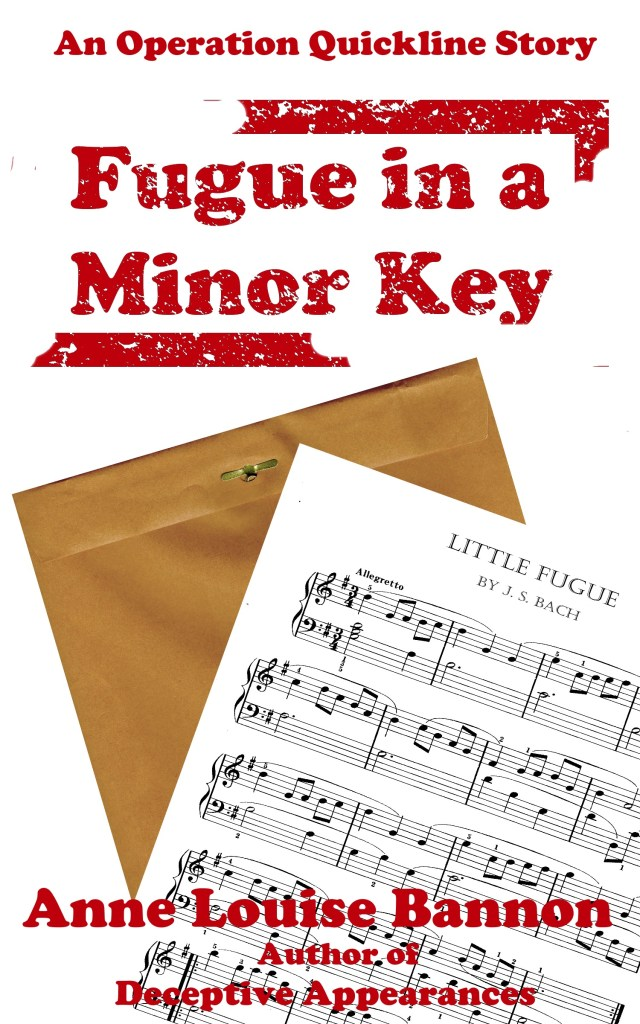 book cover for romantic spy novel Fugue in a Minor Key, #4 in the Operaition Quickline series