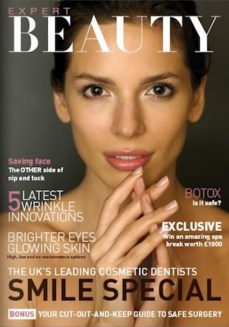 Expert Beauty magazine cover photography by Jutta Klee