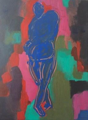 'Blue nude' 2013 Acrylic on canvas