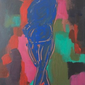 'Blue nude' 2013 Acrylic on canvas