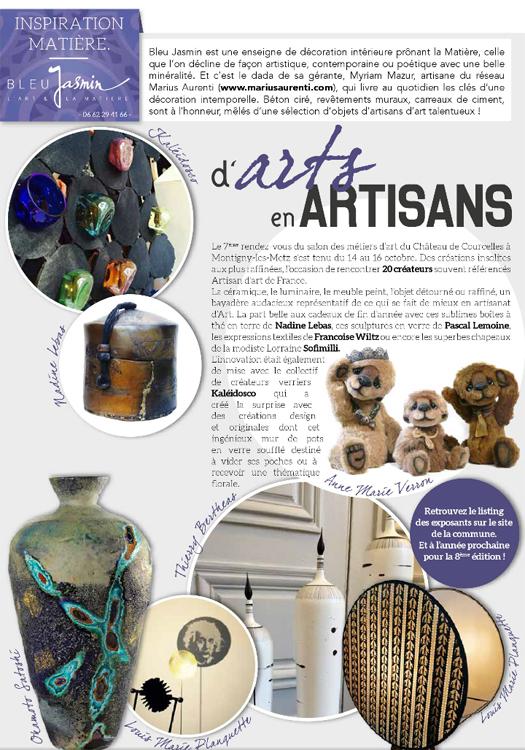 Samedi en 8 Metz arts artisans courcelles 2016 selection decoration boutique concept store bleu jasmin montigny metz