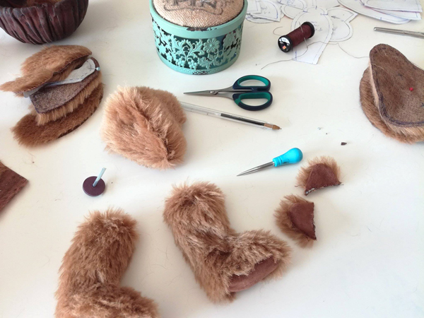 Stage cours fabrication confection ours de collection mohair tuto tutoriel patron