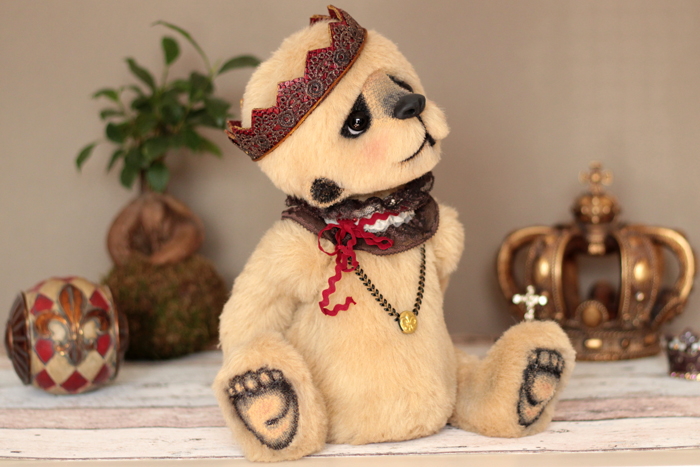 Dagobear sculpture textile Anne Marie VERRON artisan d art Heillecourt Grand Est