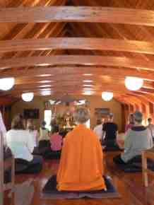 Inside the meditation hall