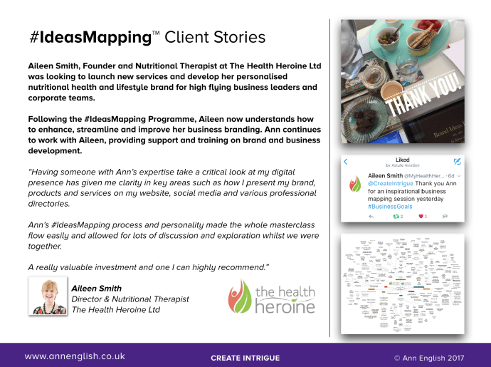 #IdeasMapping Client Stories | The Health Heroine