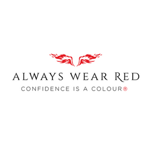Always Wear Red Logo - Confidence is a colour (registered trademark)