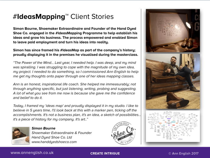 #IdeasMapping Client Stories | The Hand Dyed Shoe Co