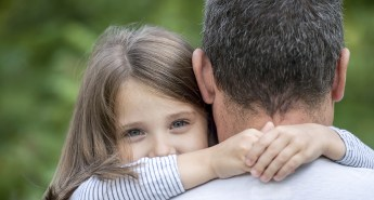 Unconditional Love Understood - Girl Hugging Dad