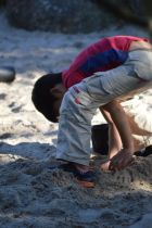 Child playing in the sandpit. Sept 2014