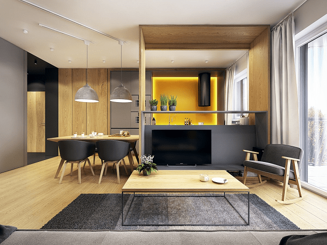 Minimalist Interiors for Colour Lovers