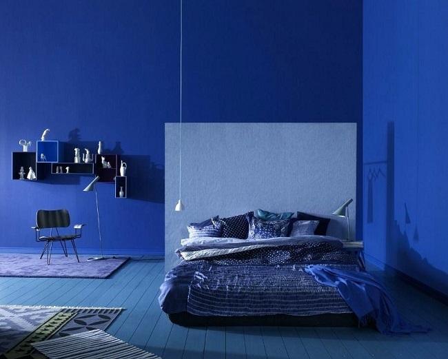 Hyper Blue Trend in Interiors