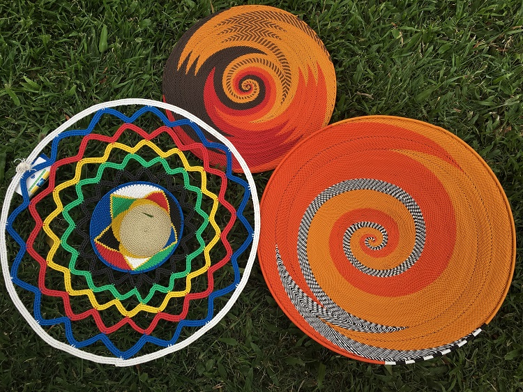 Telephone Wire Handcrafted Baskets