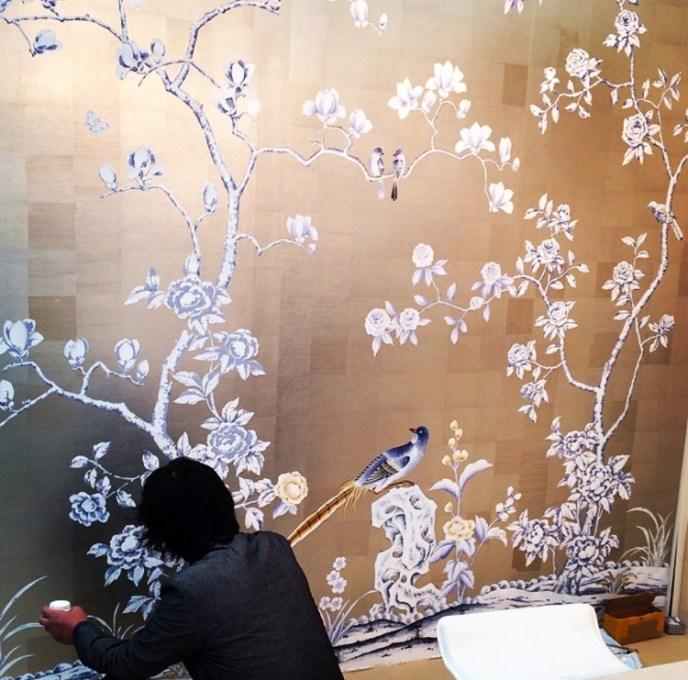 Chinoiserie Hand-painted Wallpaper