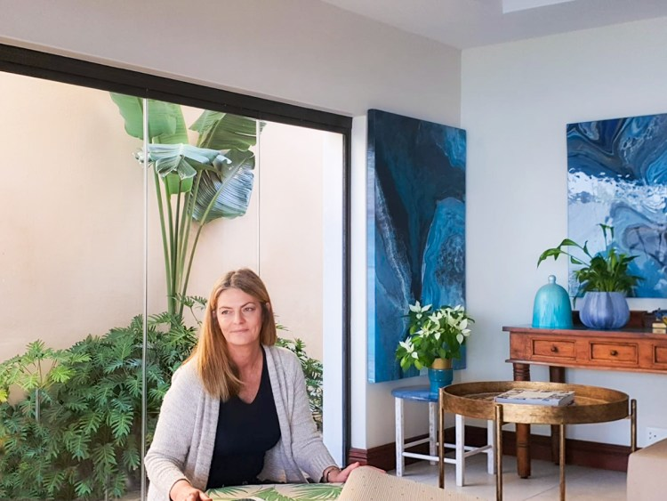 Colourful art and Plants in Living Room