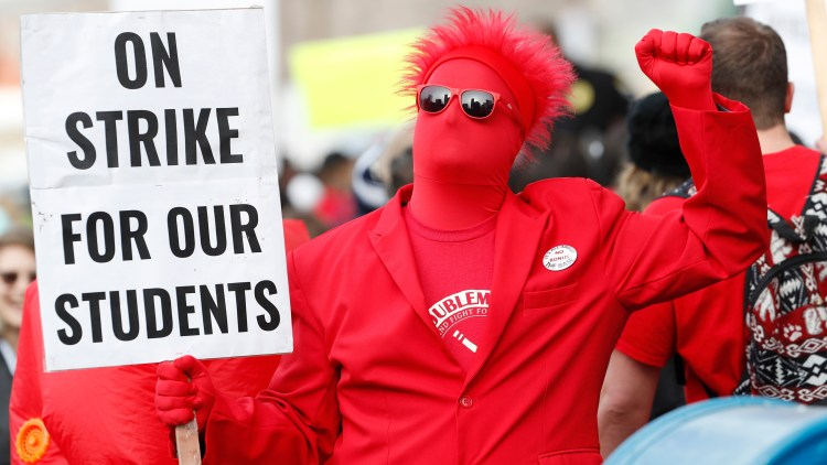 Denver  teachers'  very first  strike  in  25  years  is  over