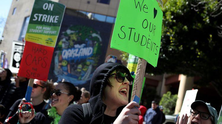 'When  we  strike,  we  win':  Tentative  arrangement  reached  in  Oakland  instructor  strike