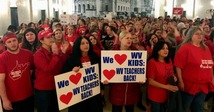 West  Virginia  Educators  Flood  State  Capitol  to  Conserve  Public  Education  From  Privatization  Plan